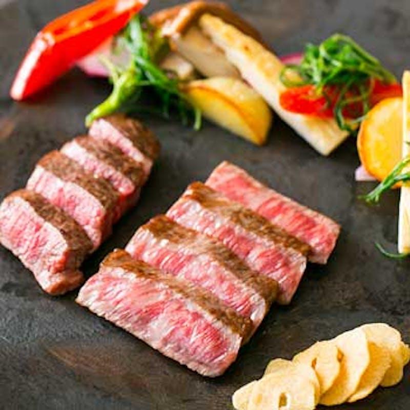 【ステーキランチコース】フィレとロース食べ比べ等7品+乾杯ドリンク(平日)