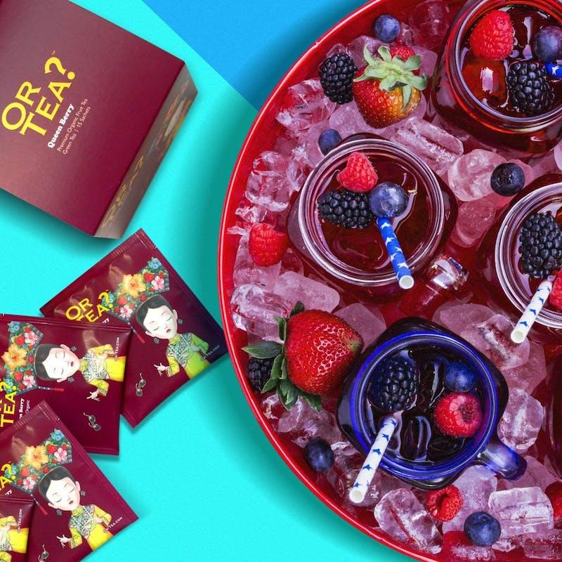 【ティービュッフェ】パティシエ特製デザート3種盛合せ+日替わり5種のOR TEA?フレーバーティーの飲み放題