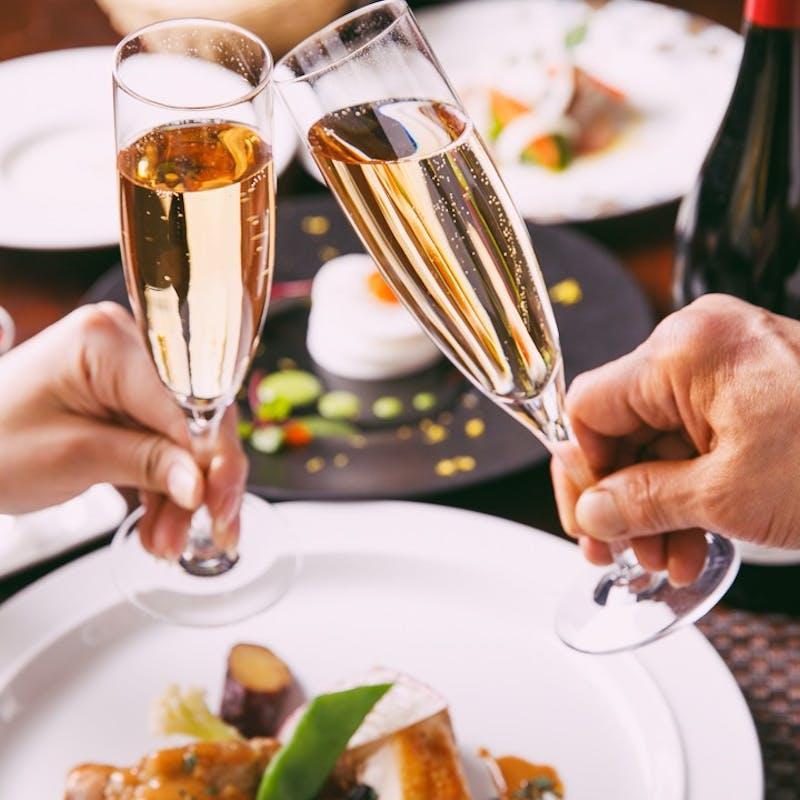 【GRAND SALON】鮮魚&牛フィレ肉のWメイン+乾杯スパークリング+誕生日ホールケーキ(一休限定・記念日)