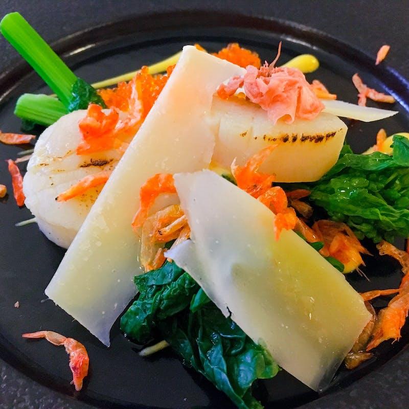 【Lunch B】魚&肉のWメイン、パティシエ特製デザートプレート