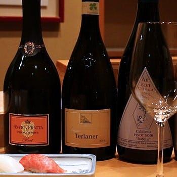 江戸前寿司とワインで至福のときを味わう