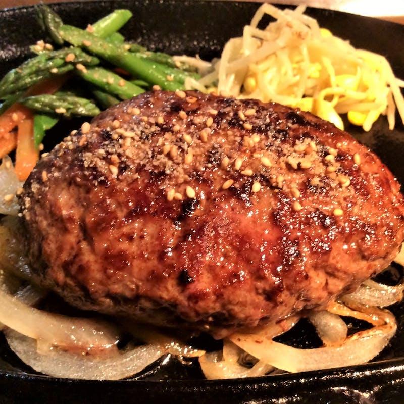 【黒毛和牛鉄板ハンバーグステーキコース】オードブル、海鮮チヂミ等(ラッキーdays・夜景確約)