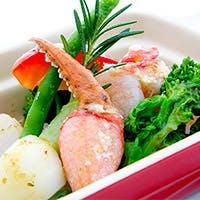 ずわい蟹をふんだんに使ったイタリアン・フレンチ・シーフード
