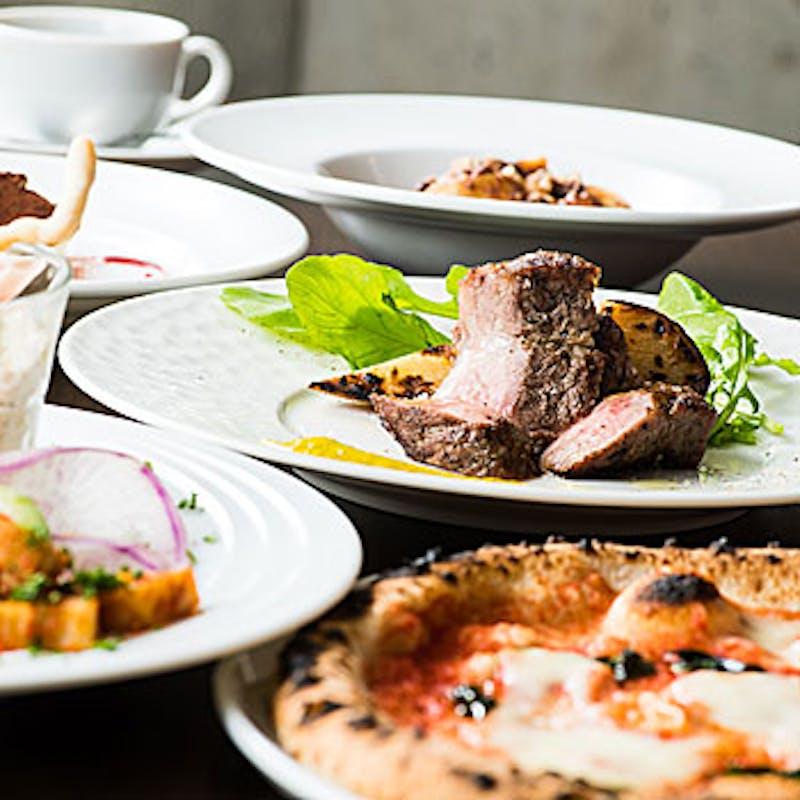 【まんぷくランチコース】前菜盛合せ、パスタ、お魚・お肉料理など全5品