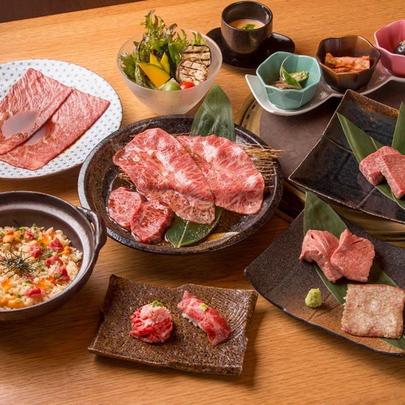 【おまかせ会席】前菜・和牛寿司・ザブトンの炙り焼きなど全11品+1ドリンク,無料プレート(個室確約)