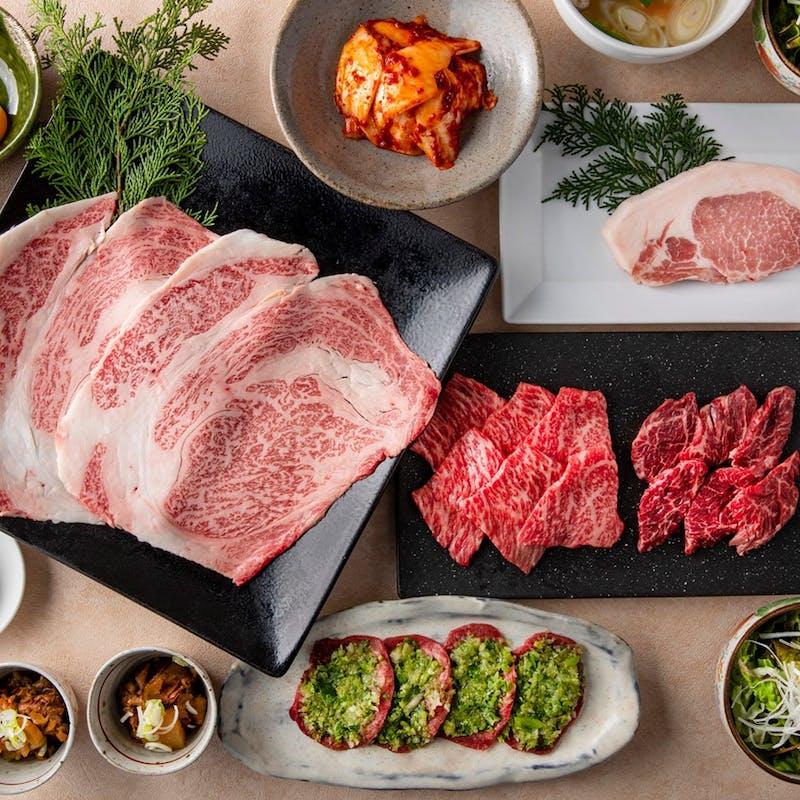 【赤身堪能コース】葱巻きシルクタン、厳選赤身肉三種など全9品+乾杯スパークリング