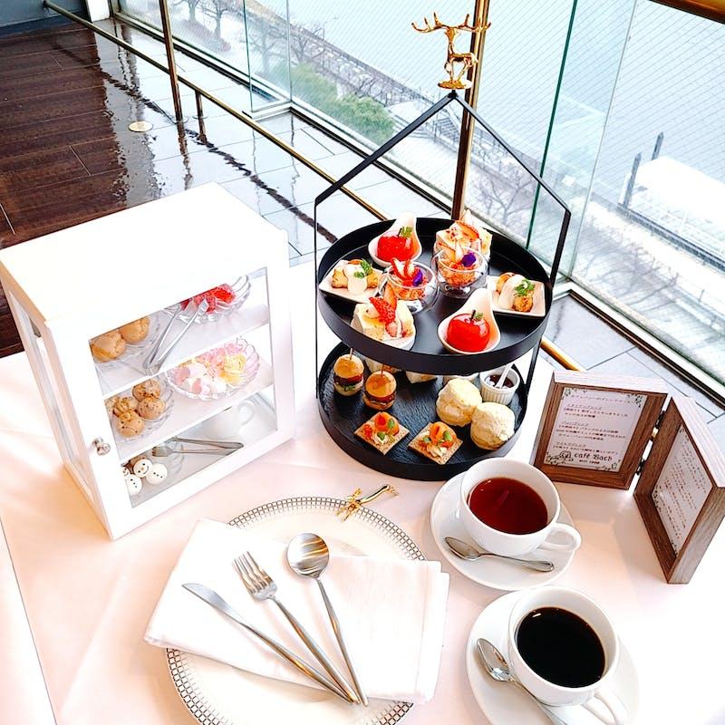 【Banchina AfternoonTea】スカイツリーを一望!こだわりの食材とカフェバッハのコーヒーで優雅な午後を