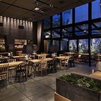 緑溢れ自然光が降り注ぐ、開放的な北堀江の一軒家レストラン