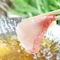 一番人気は魚のしゃぶすき鍋