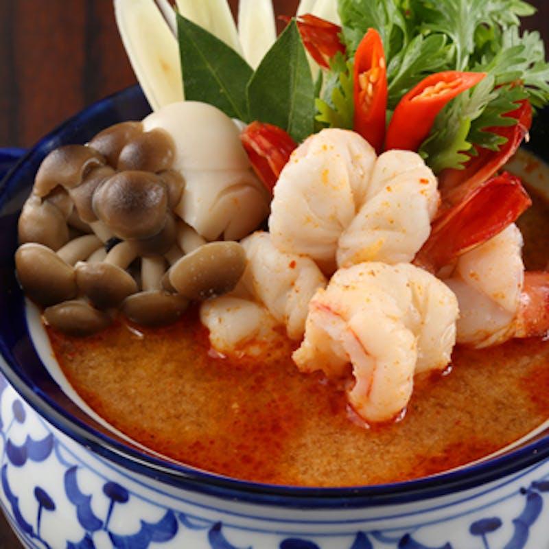 【オーキッドコース】前菜盛合せ、メイン、ご飯もの、デザートなど全4品+トムヤムクン