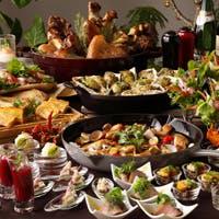 ライブキッチンなど5つのビュッフェエリアで魅せる多彩なお料理