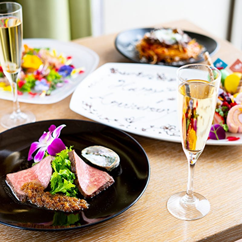 【Lunch】Anniversaryコース+乾杯レモネード(夏限定)+デザートプレート(個室確約)