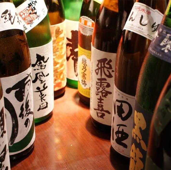 日本酒からワインまで取りそろえる、和バルスタイル