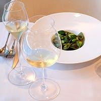 「8種類のワインをお食事と合わせて」