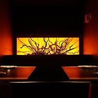 ライブ感溢れるカウンター席と、和×洋が絶妙に調和した上質な空間