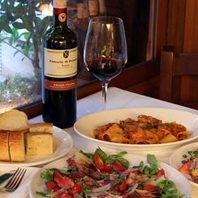 まるでイタリアで食事をしているかのような空間で素敵で楽しい一時を