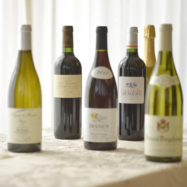 ソムリエ厳選のワインも魅力の一つ