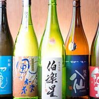 女将厳選!日本酒、焼酎、日本ワインなど