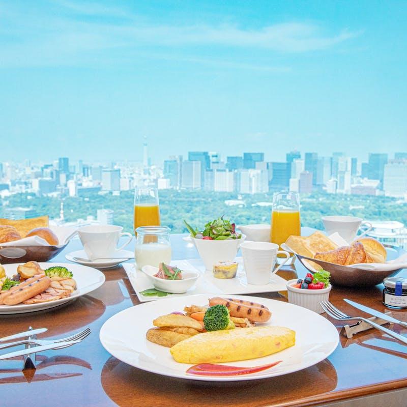 【プリンスギャラリーの朝食】ラグジュアリーコレクションが贈る最上階からの楽園時間+窓側席確約(平日)