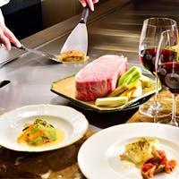上質な食材をお客様の目の前で丁寧に仕上げる上品な鉄板焼