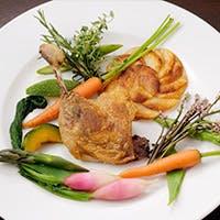 毎日直送で届く旬の食材の数々を、卓越した技術で調理した本格派トラットリア