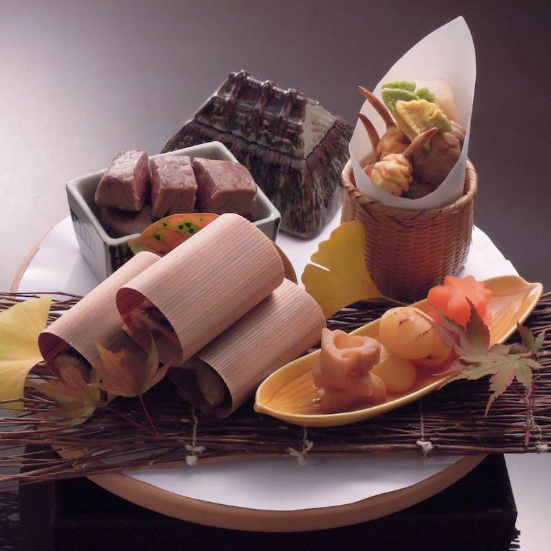 【葵会席】お造り3種 豪華焼き物 など全9品