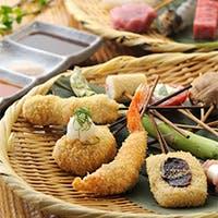 種類豊富な美味しい串揚げを「おまかせ」で、ゆっくりと堪能