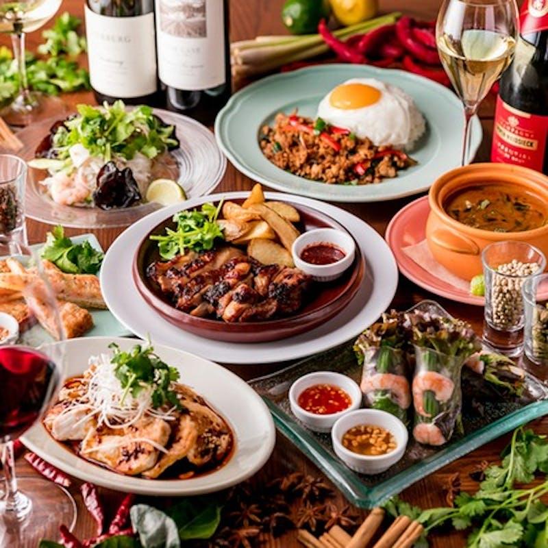 【ごほうびランチワンスター】よだれ鶏や鶏肉の炙り焼き等豪華全10品+選べる1ドリンク+食後のカフェ