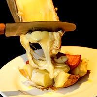 ラクレットチーズを堪能