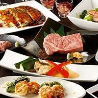 A5ランクの黒毛和牛ステーキと広島から取り寄せる選りすぐりの海鮮