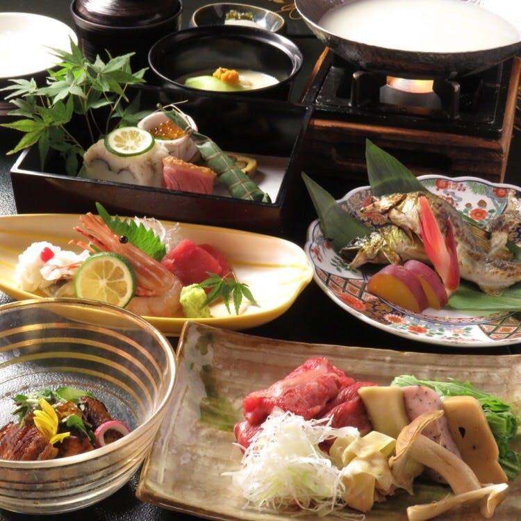 季節の食材を生かした京懐石