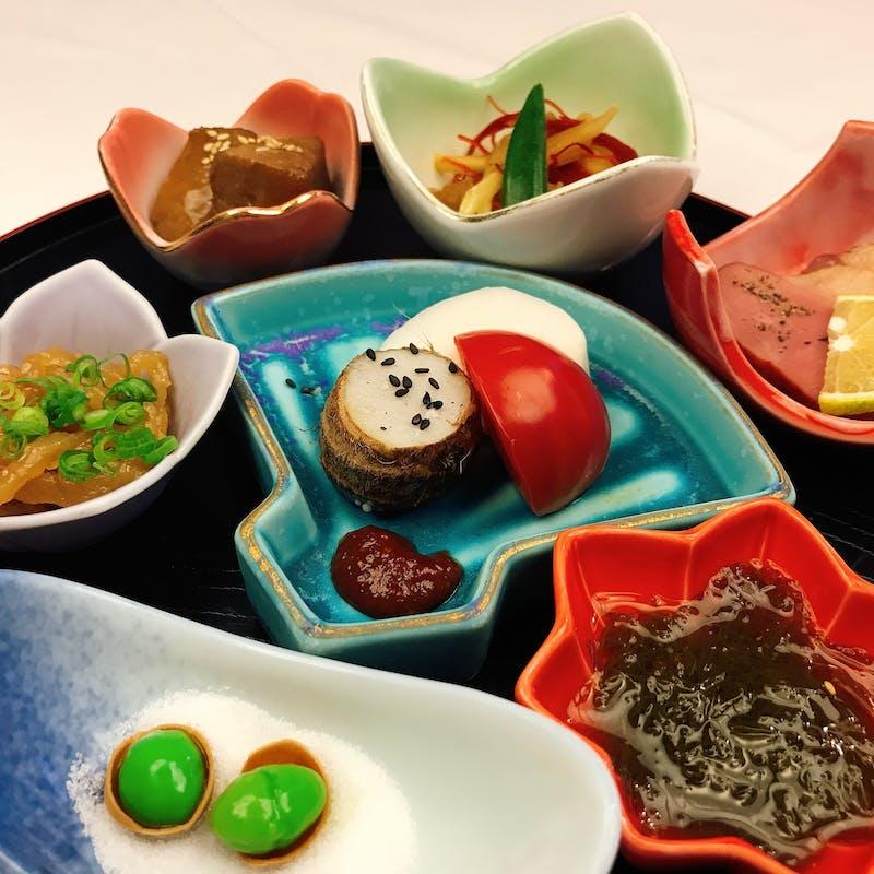 【901和食ランチコース】季節の旬の食材・のどぐろ焼きなど全7品銘々皿