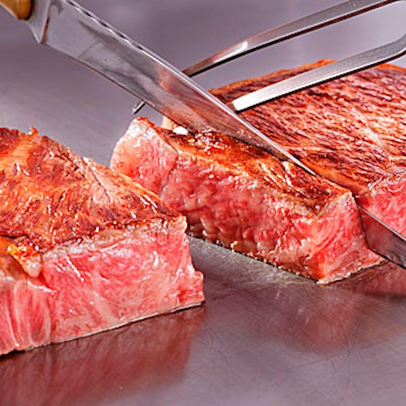 【お昼のセットメニュー】全6品(メインは特上黒毛和牛赤身ステーキ100g)