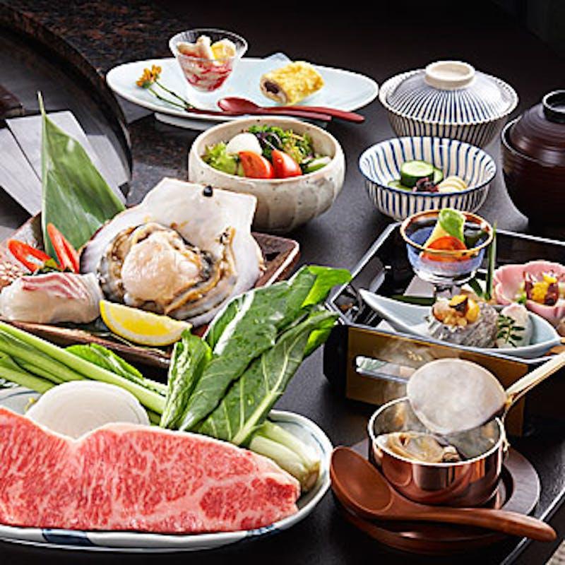 【笑福コース】特上黒毛和牛ステーキを中心とした全8品