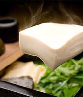 京都嵯峨野の名店『森嘉』の白豆腐を湯豆腐と湯葉で堪能