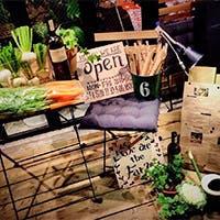 野菜はすべてオーガニック、自家農園から採れたてを直送