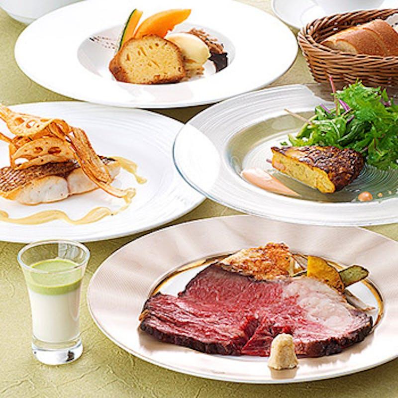 【料理長お奨めランチコース】前菜orスープにメインがお魚料理&お肉料理が2種類から選べるコース