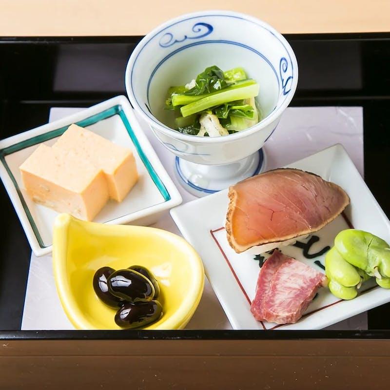 【梅コース】付き出し、御造り、焼物、揚物など味わい豊かな逸品を愉しむ全8品
