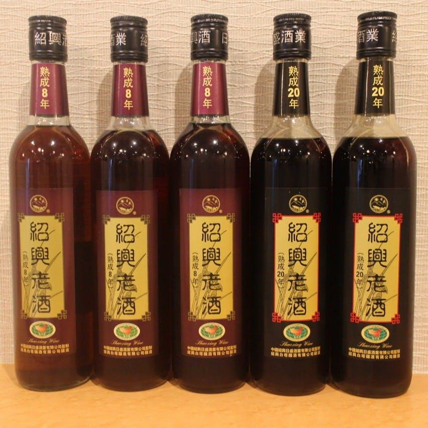 独創的な中国料理には、紹興酒はもちろんワインとのマリアージュも美味