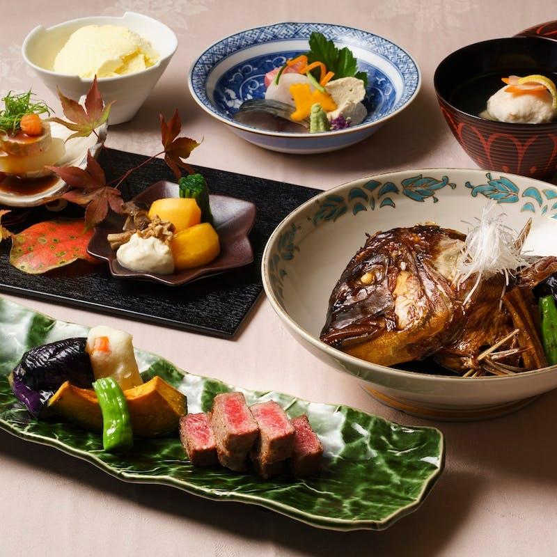 【千成】和牛肉料理or魚料理選べるメイン 全6品(7名様~)