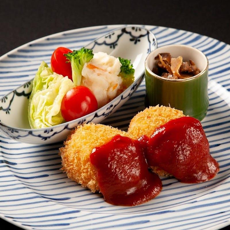 【琥珀】大和屋のお料理をお手軽にご堪能 全6品+スパークリングも選べる1ドリンク(平日お昼限定)
