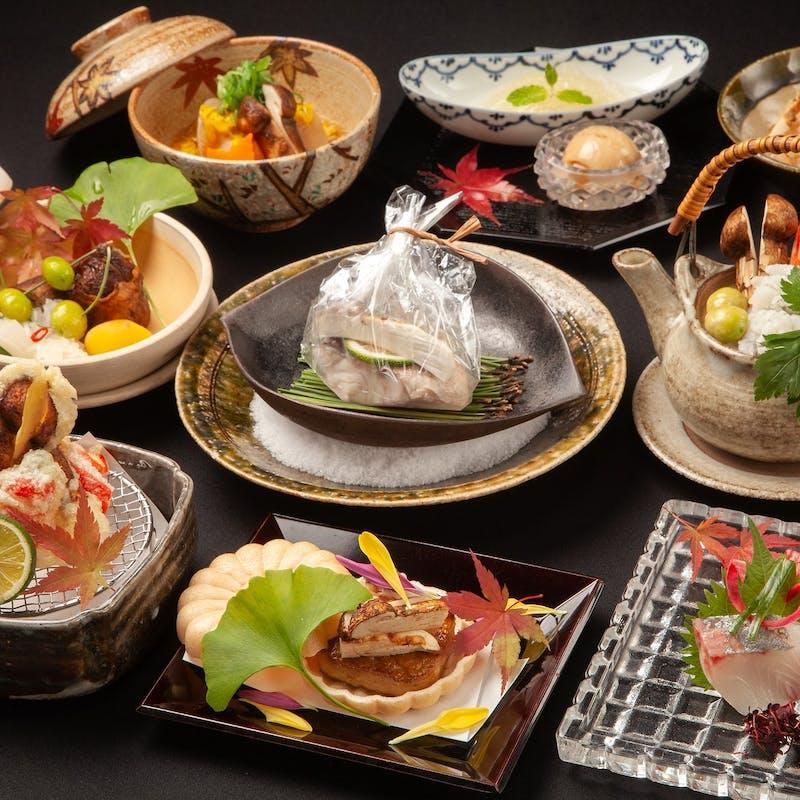 【松茸会席】お造り 焼物 デザート など全9品(7名様~)