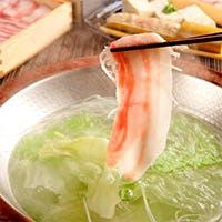 沖縄県産のブランド豚を使ったしゃぶしゃぶ・せいろ料理