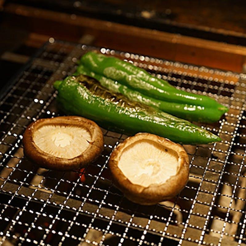 【お気軽宴会プラン】焼野菜2種、干物2種、名物の銀シャリなど全6品+2時間飲み放題