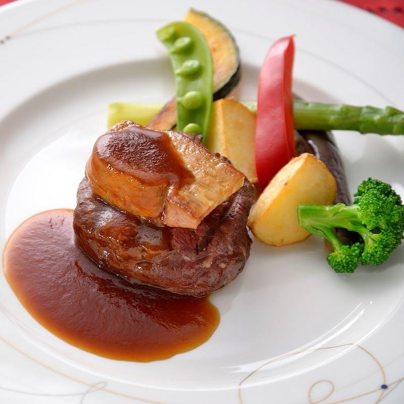 【ランチコース~Luxury~】魚料理&フォアグラ サーロイン 全5品+乾杯酒+横浜エアキャビン搭乗引換券