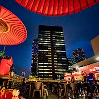 遮るものが何もなく、抜群の眺望のヒルトン東京7階ルーフトップテラス