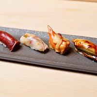 緩急自在の鮨と一品料理