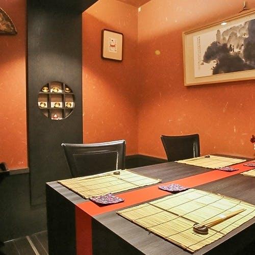 接待や記念日に相応しい、一日五組限定の完全個室