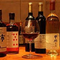和酒BARならでは、国産酒を多種多数取り揃え
