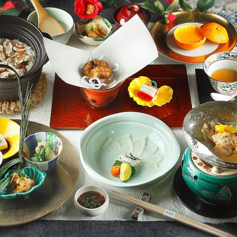 季節の懐石料理で贅沢なひと時を